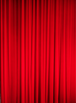 Red curtain on the right